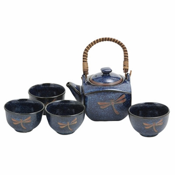 Japanese Dragonfly Tea Set