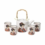 Japanese Geisha Tea Set