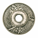 Large Silver Bamboo Cast Iron Trivet