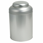 Large Silver Round Tin Canister (1.6 LB - 2.7 LB)