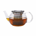 Large Traditional Glass Teapot with Stainless Steel Filter