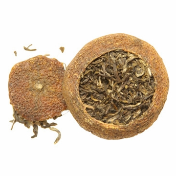 Mandarin Orange Flavored Green Puerh