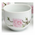 Peach Blossom Flower Tea Cup