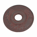 Red Bamboo Cast Iron Trivet