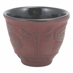 Red Dragonfly Cast Iron Teacup