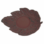 Red Maple Leaf Cast Iron Saucer
