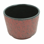 Red Pine Needle Cast Iron Teacup