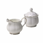 Royal Court New Bone China English Cream & Sugar Set