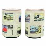 Scenic Painting 2 Piece Sushi Teacup Set
