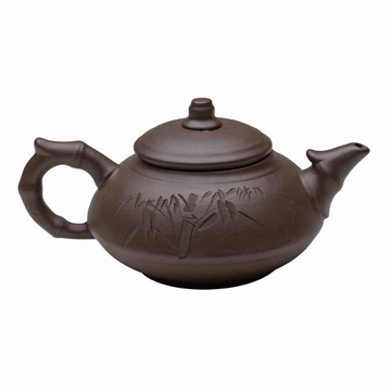 Traditional Purple Clay Bamboo Gongfu Teapot