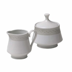 Victorian English Porcelain Cream and Sugar Set