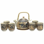 Yellow Flying Dragon Tea Set