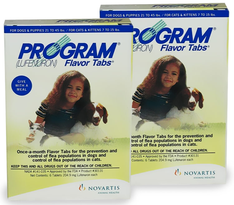 12 MON. PROGRAM Yellow For Dogs 21-45lbs and Cats 7-15lbs