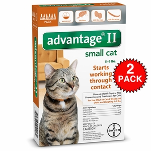 12 MONTH Advantage II Flea Control Small Cat (for Cats 5-9 lbs.)