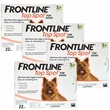12 MONTH Frontline Top Spot Orange: For Dogs up to 22lbs.