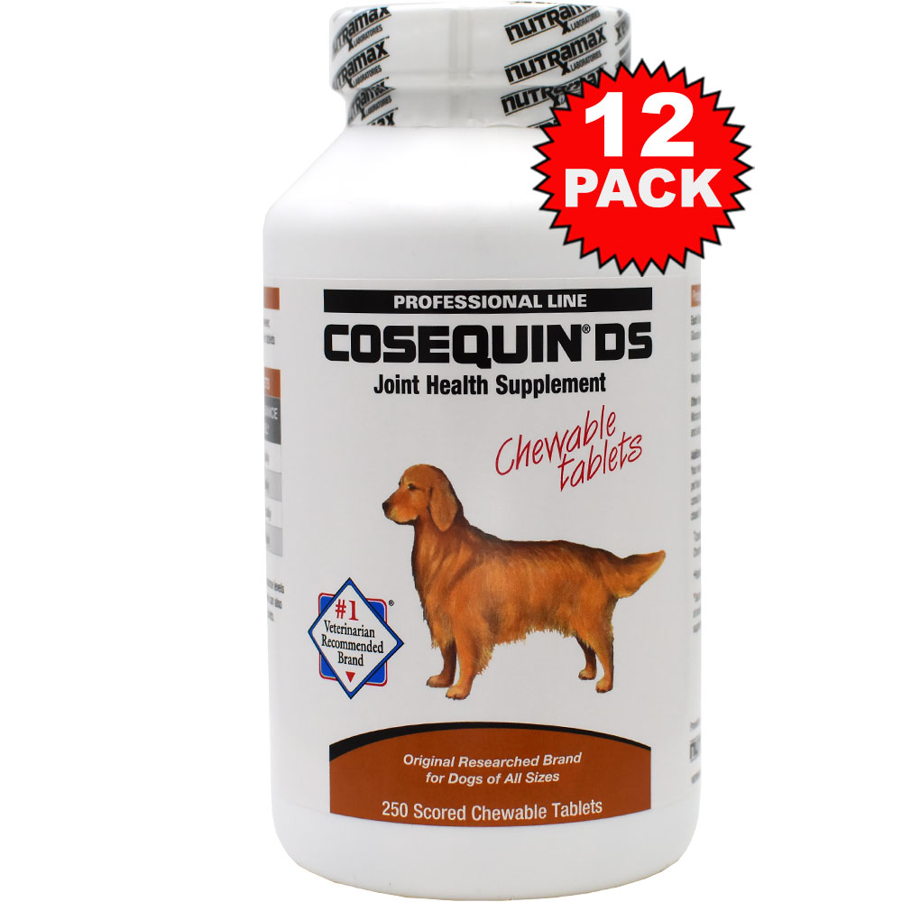 12-PACK Cosequin DS 250 Count (3000 tablets) CHEWABLES