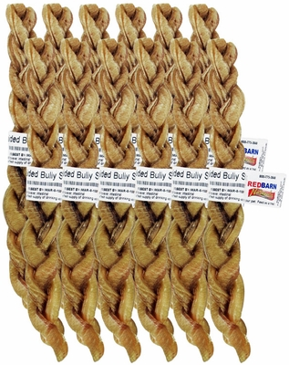"12 PACK Redbarn 9"" Braided Bully Stick"