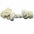 2 Knot Extra Large Tug Rope Bone - White (10 inch)