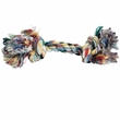 2 Knot Multi Color Tug Rope Bone - Large (8 inch)