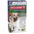 2 MONTH K9 ADVANTIX II BLUE Extra Large Dog (for dogs over 55 lbs)