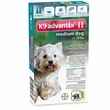 2 MONTH K9 ADVANTIX II TEAL Medium Dog (for dogs 11-20 lbs)