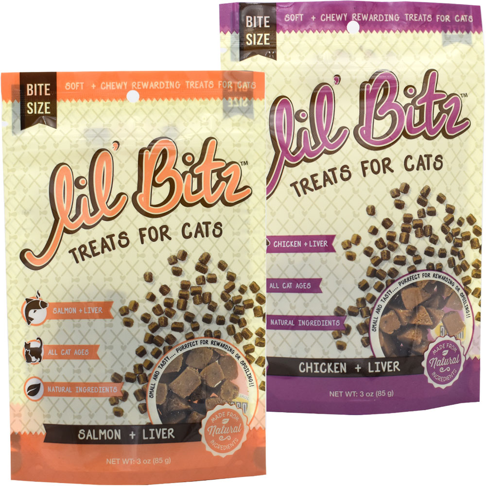 2-PACK Lil' Bitz Training Treats for Cats ASSORTED PACK (6 oz)