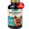 2-PACK NaturVet Quiet Moments - Calming Aid Plus Melatonin (120 Tabs)