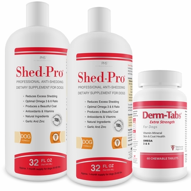 2-PACK Shed-Pro® (64 fl oz) with Derm-Tabs® ES (60 Tablets)