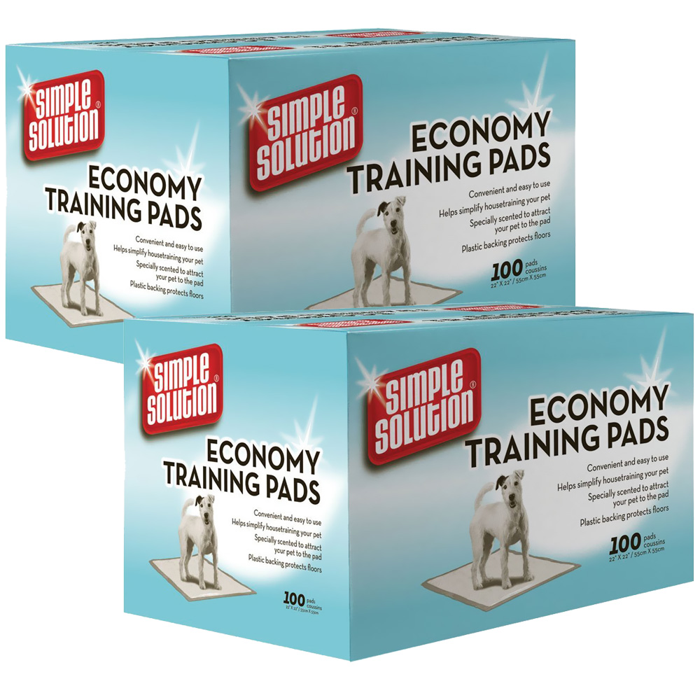 "2-PACK Simple Solution Economy Puppy Training Pads (200 Pad Pack 22"" x 22"")"