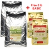 2-Pack Simply Wild Chicken & Brown Rice (52 lbs) + FREE 5lb BASIX