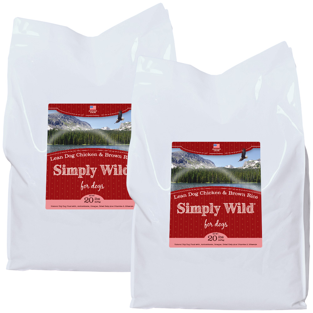 2-PACK Simply Wild Lean Dog Chicken & Brown Rice Dog Food (40 lbs)