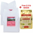 2-PACK Simply Wild Salmon & Brown Rice Dog Food (40 lbs) + FREE 2.5lb BASIX