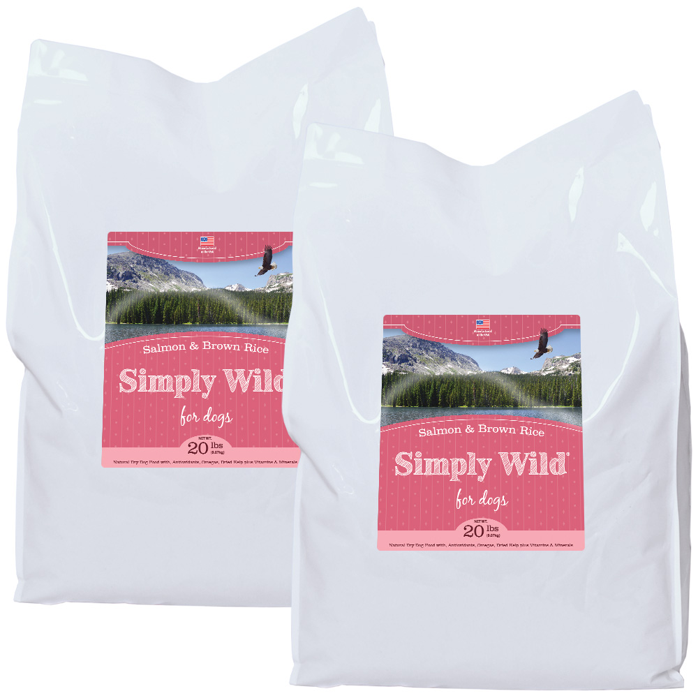 2-PACK Simply Wild Salmon & Brown Rice Dog Food (40 lbs)