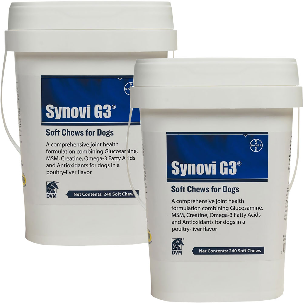 2 PACK SynoviG3 SOFT CHEWS (480 chews)