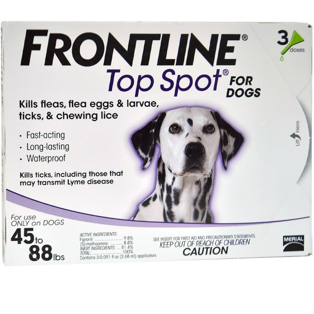 3 MONTH Frontline Top Spot Purple: For Dogs 45-88 lbs.
