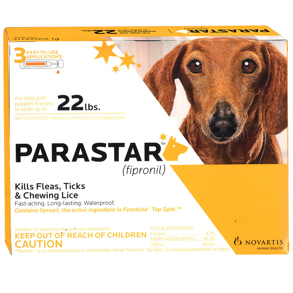 3 MONTH Parastar Orange for Dogs up to 22 lbs