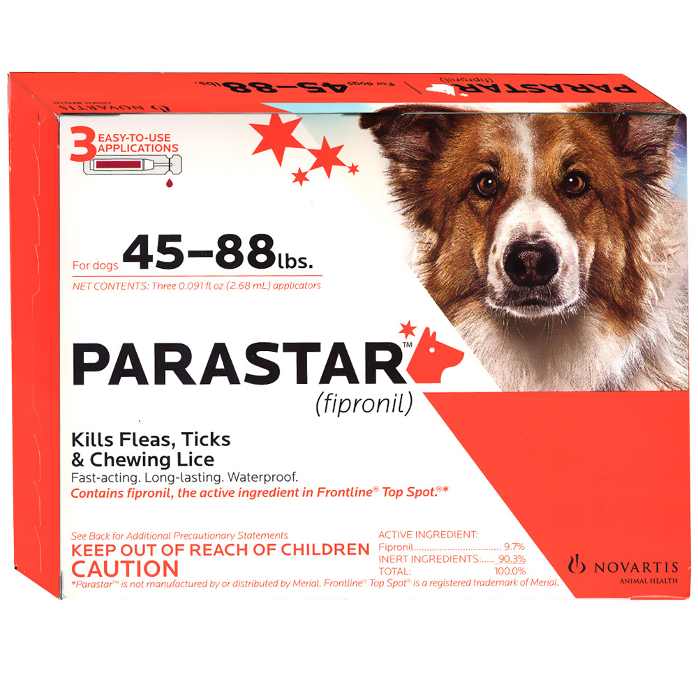 3 MONTH Parastar Red for Dogs 45-88 lbs