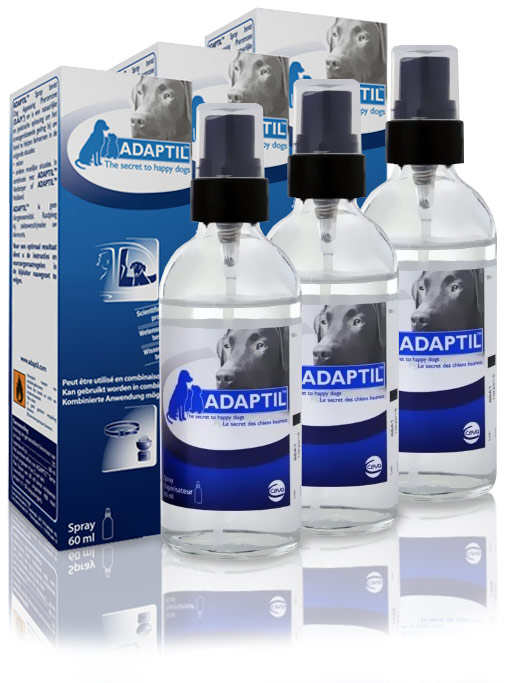3 PACK ADAPTIL (DAP) Dog Appeasing Pheromone Spray (180 ml)