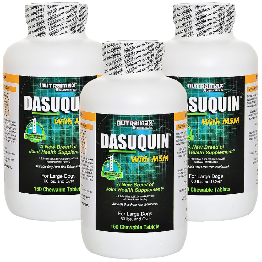 3-PACK Dasuquin for Large Dogs 60 lbs. & over with MSM (450 Chewable Tabs)