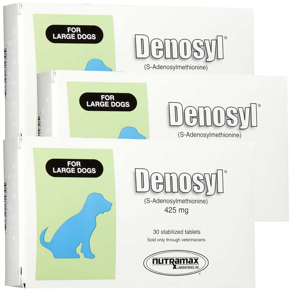 3 Pack Denosyl for dogs over 35 lbs (90 tablets) 425 mg