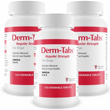 3-PACK Derm-Tabs® Regular Strength for Dogs (360 Chewable Tablets)