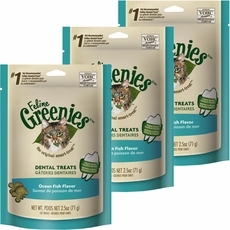 3-PACK Greenies Felines - OCEAN FISH  (7.5 oz)