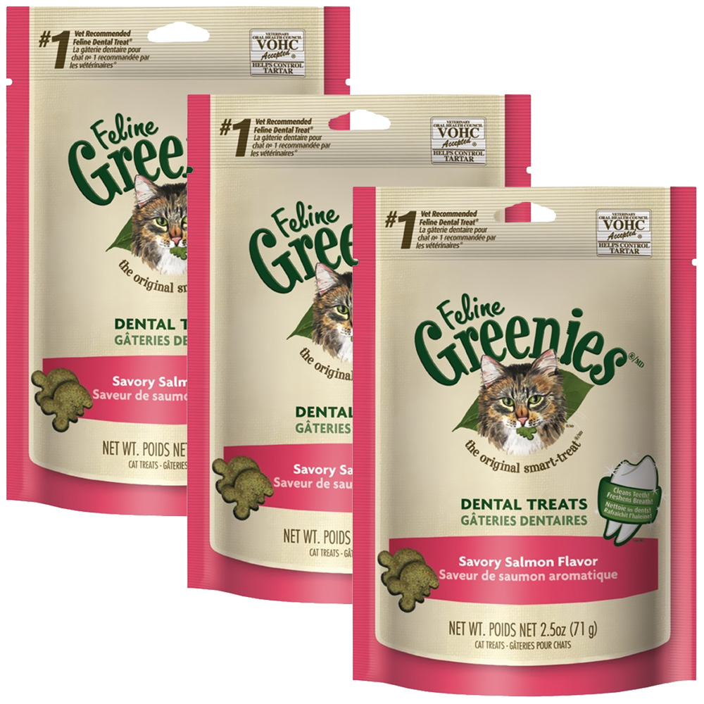 3-PACK Greenies Felines - SALMON  (7.5 oz)