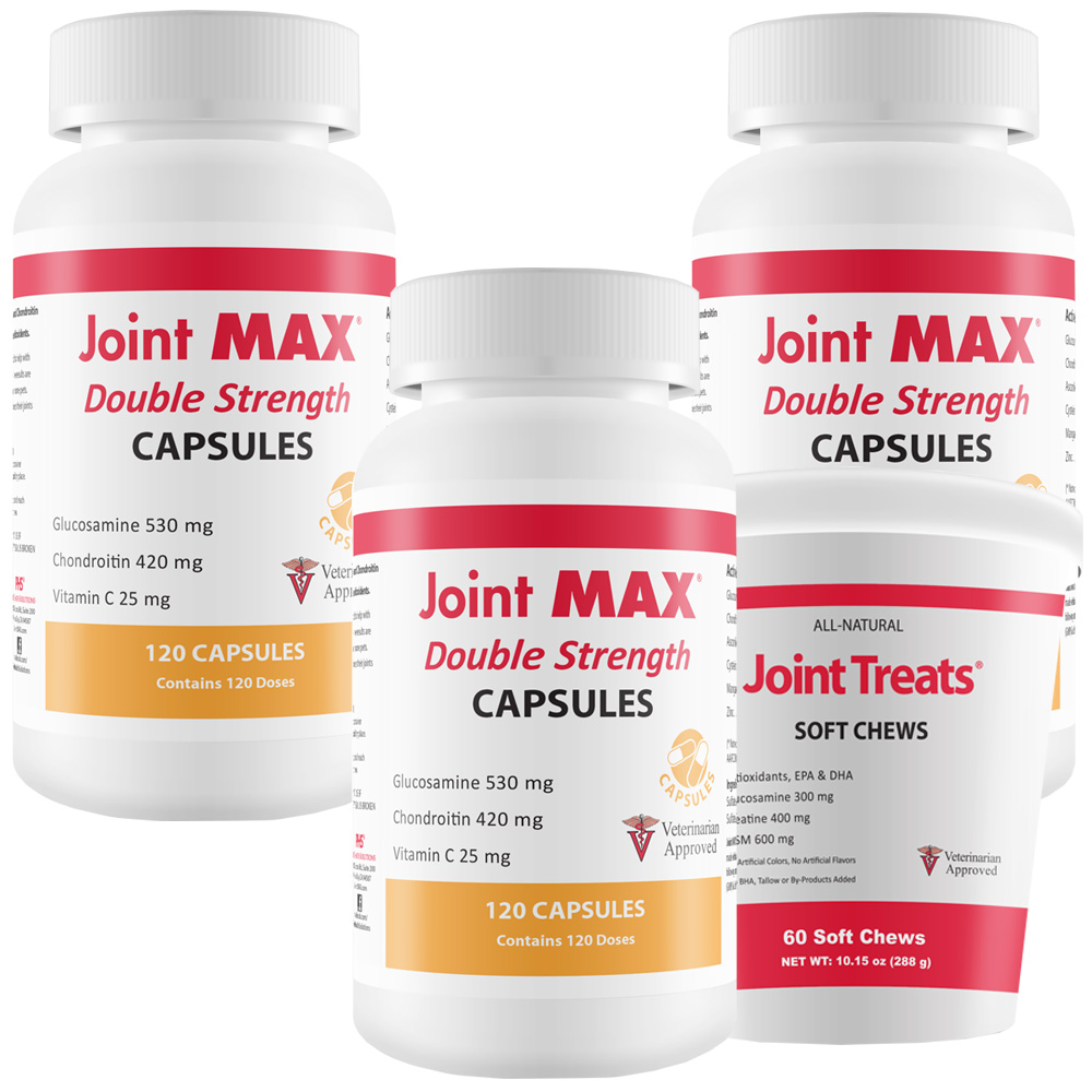 3-PACK Joint MAX® Double Strength Capsules (360 Count) + FREE Joint Treats®