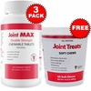 3-PACK Joint MAX Double Strength (750 Chewable Tablets) + FREE Joint Treats