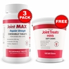 3-PACK Joint MAX Regular Strength (540 Chewable Tablets) + FREE Joint Treats Minis