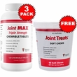 3-PACK Joint MAX Triple Strength (360 Chewable Tablets) + FREE Joint Treats