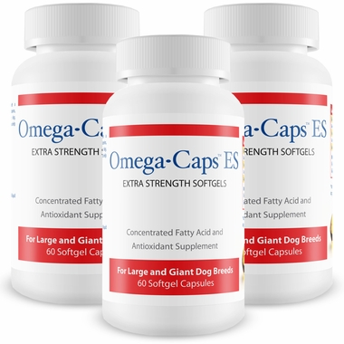 3-Pack Omega-Caps™ Extra Strength For Large & Giant Dogs (180 Softgel Capsules)