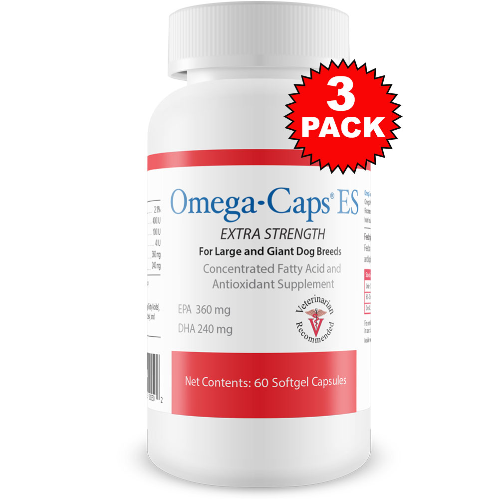 3-Pack Omega-Caps Extra Strength For Large & Giant Dogs (180 Softgel Capsules)