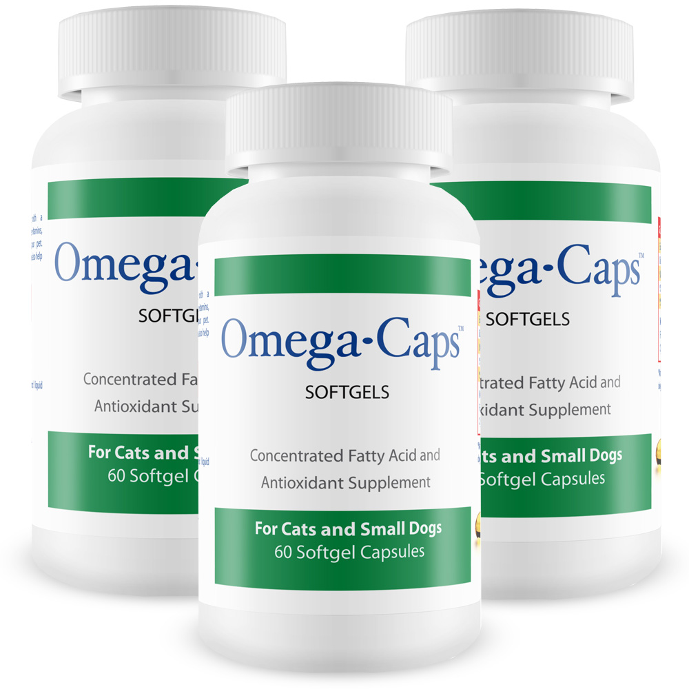 3-Pack Omega-Caps™ For Cats & Smaller Dogs (180 Softgel Capsules)